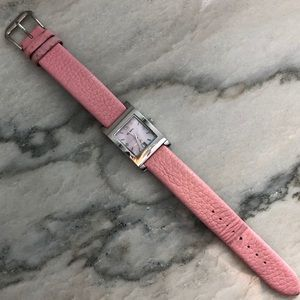 FOSSIL watch with pink leather band